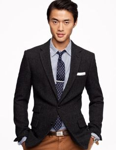 JCrew-Ludlow-Sportcoat-In-Italian-Wool-Tweed-Blazer-Grey-Charcoal + pant color
