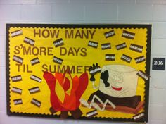 Count down the days to Summer break with this end-of-school year bulletin board.... every day you count down the day, have a writing prompt on the back ( can do the same for Christmas break)