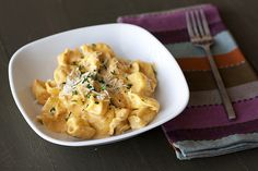 Tortellini with Pumpkin Alfredo Sauce by handletheheat #Tortellini #Pumpkin #handletheheat