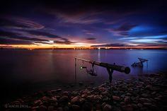 Jezioro Nyskie. Wieczorne wędkowanie.