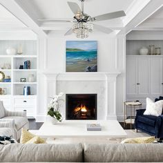 Minnesota, Ceiling Fan Chandelier, Villa, Ceiling Fan With Remote, Thing 1, Coastal Style, Small Rooms, Built Ins, Great Rooms