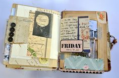 Original pinner sez: This travel journal -- of Paris -- is just the best I've seen! It so makes me want to be in Paris now! Journal Cards, Junk Journal, Altered Books, Altered Art, Travel Album, Project Life Cards, Album Book, Travel Scrapbook, Smash Book