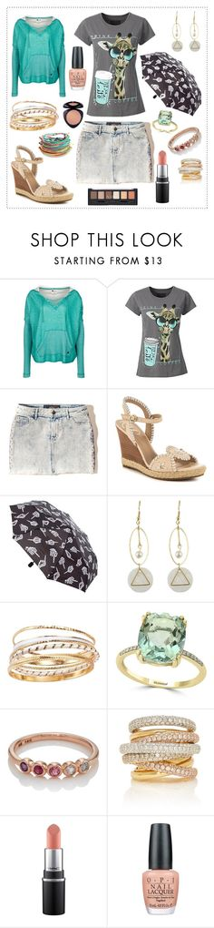 """Rainy Day Angela"" by divinatas ❤ liked on Polyvore featuring Billabong, Hollister Co., Jack Rogers, Avon, Effy Jewelry, My Story, OPI and Natio"