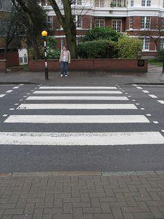Beatles Abbey Road Crossing. London England
