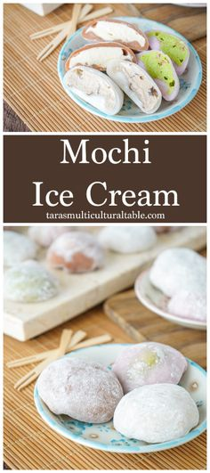 Mochi Ice Cream- Tara's Multicultural Table- Microwaved White Daifuku Mochi is filled with your choice of ice cream for a fun and refreshing treat. Strawberry Mochi, Strawberry Ice Cream, Amazing Recipes, Delicious Recipes, Yummy Food, Frozen Desserts, Frozen Treats, Donut Recipes, Dessert Recipes