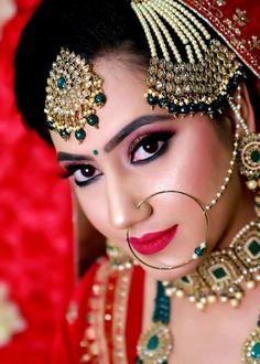 Bridal Makup, Durga Kali, Sikh Bride, Samantha Photos, Royal Brides, Glamorous Makeup, Bride Photography, India Beauty, Bridal Looks