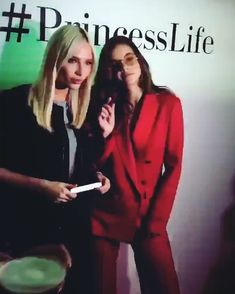 """Alena Shishkova & Barbara Palvin - """"Got acquainted with charming became the face of and presented our lipstick to her, which came under her outfit 💄 ☺ Alena Shishkova, Star Beauty, Barbara Palvin, Platinum Blonde, Supermodels, Lipstick, Glamour, Outfit, Face"""
