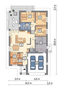 My House Plans, House Floor Plans, Garage Organization, Design Case, Modern Architecture, Construction, Flooring, How To Plan, Interior Design
