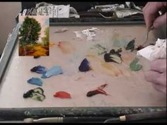 Landscape Oil Painting 103 Mix Real World Greens - good tip on correcting after mixing in white