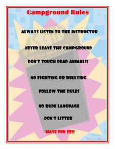 Campground Rules