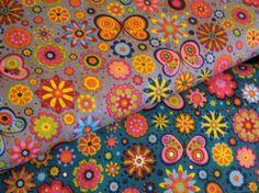 Schmetterlinge in Blumen- AUSWAHL- Baumwolle von ஐღKreawusel-aufgehübscht✂ஐ  auf DaWanda.com
