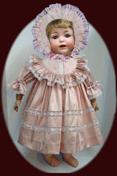 "Antique Doll Pattern 26/"" ~ Dress /& Chemise Slip 1920s Composition"