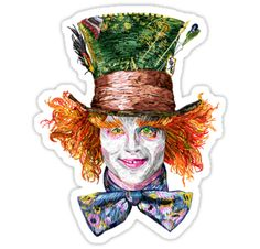 Alice: This is impossible. / The Mad Hatter: Only if you believe it is. • Also buy this artwork on stickers, apparel, phone cases, and more.