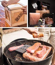 salt block grilling crate