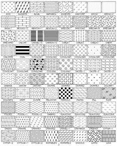 100 Plus Hatch Patterns-AutoCAD hatch patterns Hatch Autocad, Hatch Pattern, Landscape Drawings