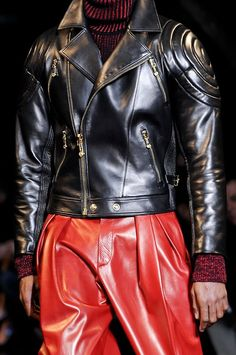 Versace - LIKE PLEAT LEATHER PANTS! BUT IN BLACK, OXBLOOD, MILITARY GREEN & COGNAC