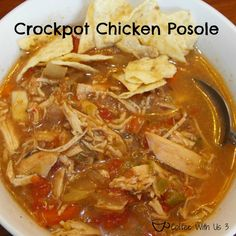 Crockpot Chicken (or turkey!) Posole {Freezer Meal} by Coffee With Us 3 Put ingredients in freezer bag and then dump in the crockpot to cook! So easy! Crock Pot Slow Cooker, Crock Pot Cooking, Slow Cooker Chicken, Slow Cooker Recipes, Crockpot Recipes, Cooking Recipes, Healthy Recipes, Posole Recipes, Soup Recipes