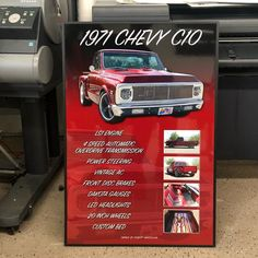Just got done wrapping up this #carshowboard for a very cool #chevy #c10 #pickuptruck ! Get one for your car at showcarsign.com #carshowboards #chevyc10 #c10trucks #chevytrucks #c10nation #carshows #restomod