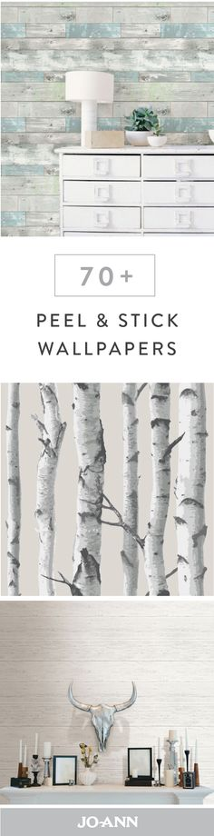 Say hello to the new face of wall decor! This collection of 70 Peel and Stick Wallpapers is perfect for updating the look and feel of your home without the hassle of a renovation because install on this stylish product is as easy as can be. Look Wallpaper, Peel And Stick Wallpaper, Sticky Wallpaper, Tree Wallpaper, Bathroom Wallpaper, Easy Wallpaper, Camping Wallpaper, Wallpaper Wallpapers, Home Renovation