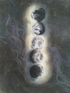 5 phases of the moon; commisioned piece for a possible tattoo