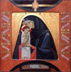 The Nativity icon by Lyuba Yatskiv is a beautifully modern interpretation.