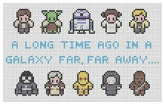 Star Wars Characters Cross Stitch Pattern PDF by XStitchMyHeart