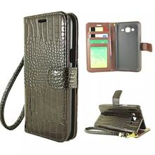 Luxury Crocodile Leather Case for Samsung Galaxy J7 J700 Cases Stand Holder Card Slot Wallet Case for Samsung J7 J700 Cases