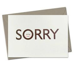 #letterpress sorry cards# he is  SORRY - LETTERPRESS CARD (hand finished)
