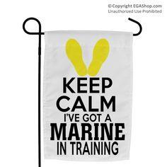 Garden Flag: KEEP CALM, Marine in Training