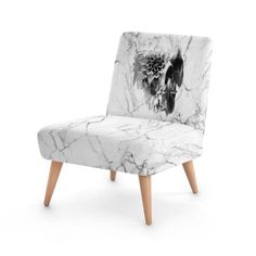 Gothic Skull Occasional Chair Sugar Skull Home Decor Comfy | Etsy Skull Furniture, Velour Fabric, Floral Skull, Occasional Chairs, Skull Art, Traditional House, Sugar Skull, Home Furnishings, House Warming