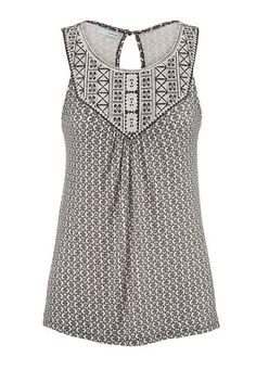 embroidered tank with keyhole back (original price, $29) available at #Maurices