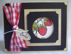 Strawberry and Gingham Card