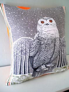 Arctic Owl Cushion / Pillow