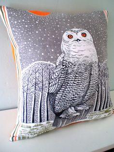 Arctic Owl Cushion / Pillow