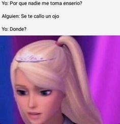 New Memes, Dankest Memes, Funny Memes, Funny Spanish Memes, Spanish Humor, Haha Funny, Hilarious, Pinterest Memes, Barbie