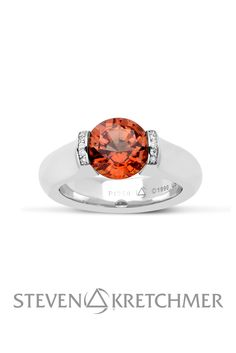 Our wild brides will love our OR ring with this stunning Orange Sapphire. Orange Sapphire, Brides, Engagement Rings, Jewelry, Enagement Rings, Wedding Rings, Jewlery, Bijoux, Commitment Rings