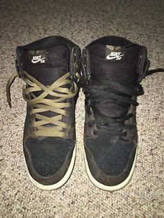25562a612f8 Nike SB Zoom Air Dunks Hi Pro CAMO Colors Size 12 Beaters Trashed Jock Worn  Used