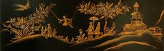 The chinoiserie and the soundboard painting were executed by Sheridan Germann of Boston.