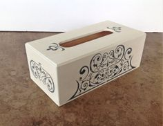 Tissue box cover  shabby chic decor  painted by YouMatterDesigns, $19.00