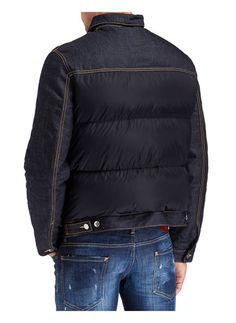 Daunen-Jeansjacke im Materialmix von DSQUARED2 bei Breuninger kaufen