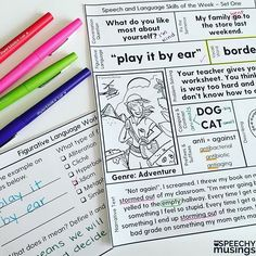 Speech and language therapy targets all on ONE page! From Speechy Musings.