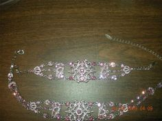 Stamped VCLM pink rhinestone bracelet and necklace set....NEW $75 shipped from Ontario Canada....