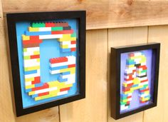 Monogram Lego Wall Art by BitterStore on Etsy, $50.00
