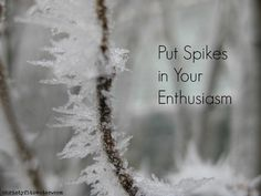 Is your enthusiasm prepared for the ice of decision making?  -christyfitzwater.com