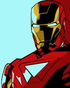 Iron Man Pop-Art by iamherecozidraw.deviantart.com on @deviantART