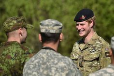 Prince Harry at Exercise Kevadtorm