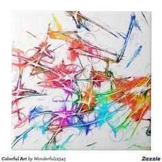 #Colorful #Art #Large #Square #Tile