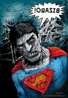Superman Bizarro Painting