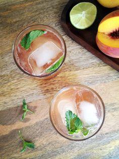Peach Bourbon Cocktail | Paradisepin