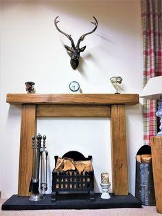 """Fire Surround (6"""" x 4"""" mantle) #FireSurround #WoodenFireSurround #WoodFireSurround #OakFurniture #BeamFireSurround #OakFireSurround #FireplaceSurround #RusticFireSurround #RusticFiresurround #OakFireplace Wooden Diy, Wooden Fireplace Surround, Cosy Living Room, Masonry Wall, Diy Fire Surround, Oak Fire Surround, French Oak, Wooden Fire Surrounds, Fire Surround"""